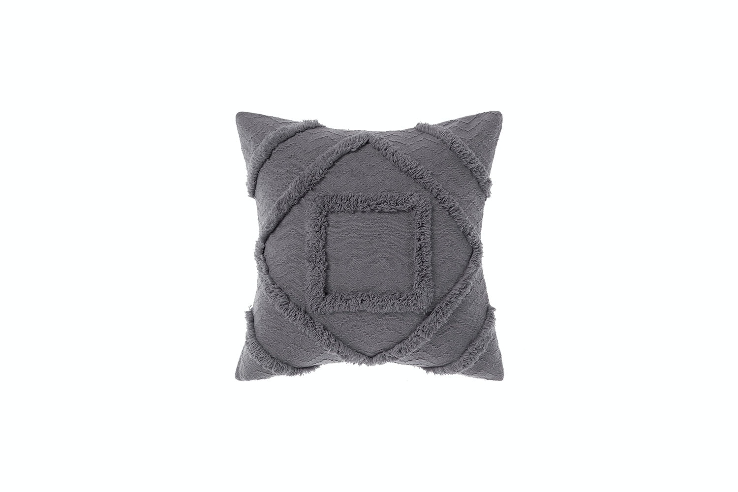 Adalyn Charcoal Square Cushion by Savona