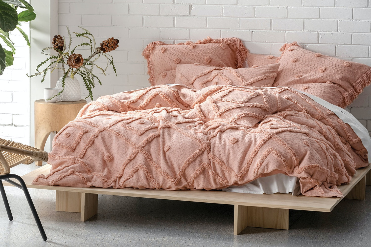 Adalyn Peach Duvet Cover Set by Savona