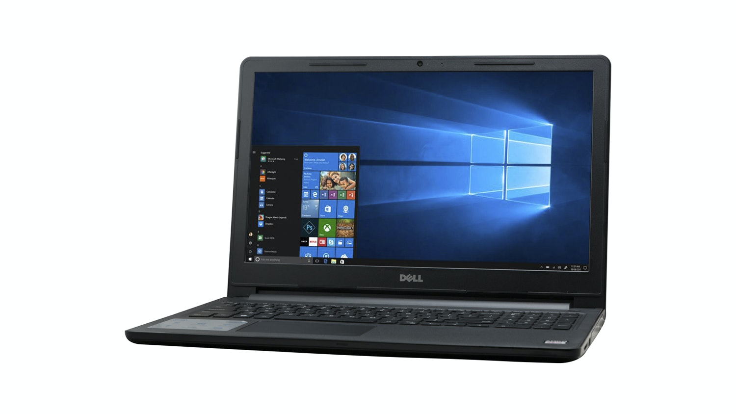 Dell Inspiron I3565-A125BLK-PUS Front Facing Left
