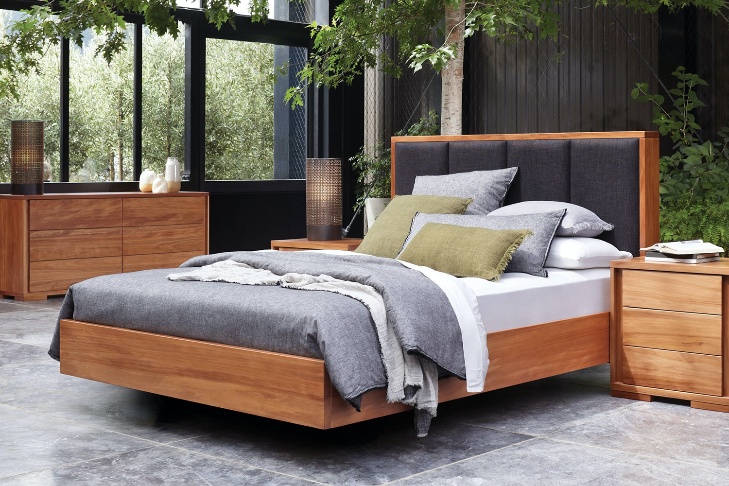 Kauri Grove Queen Bed Frame by Ezirest Furniture