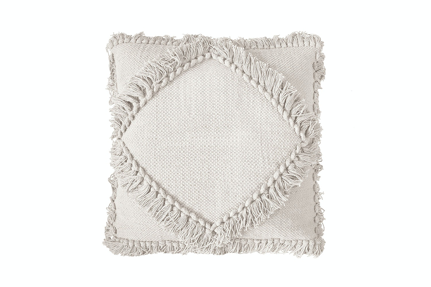 Oasis Ivory 50cm Square Cushion by Bambury