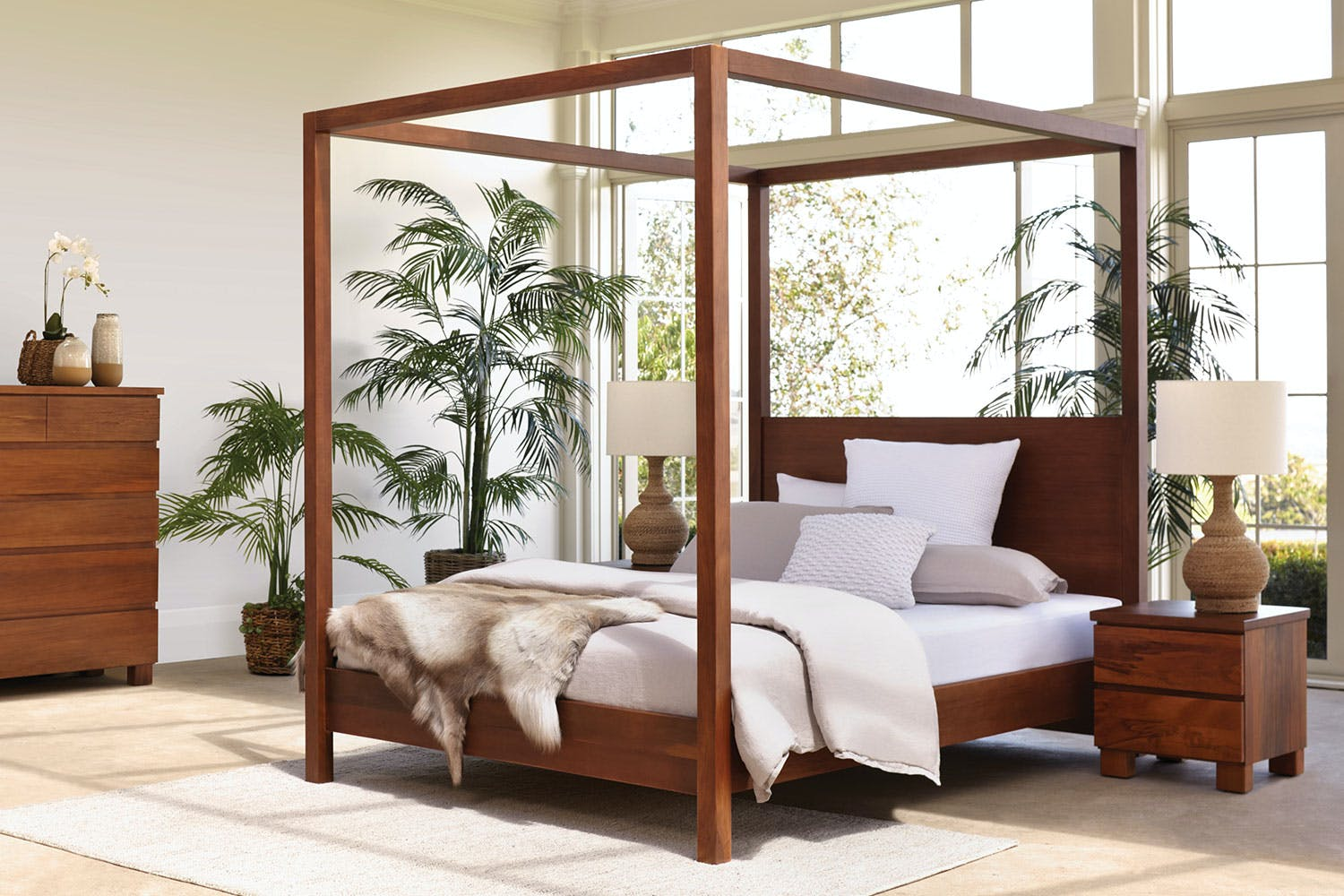 Riverwood 4 Poster Queen Bed Frame By Sorenmobler Harvey Norman New Zealand