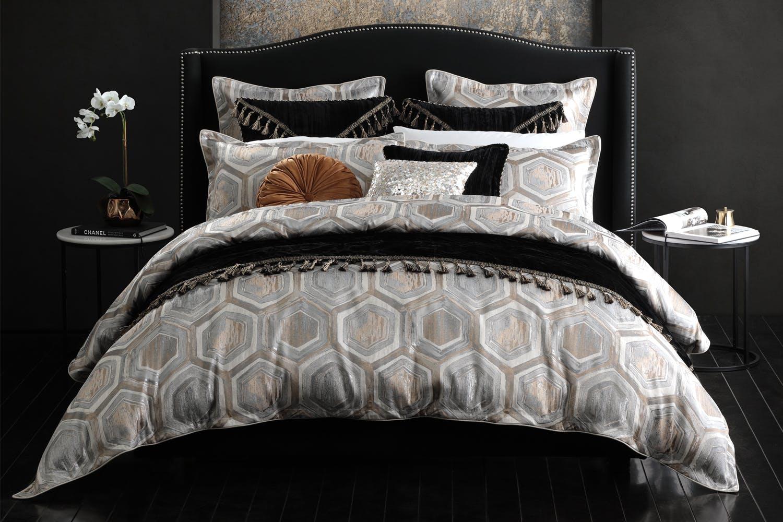 Superb Apollo Silver Duvet Cover Set By Da Vinci Inzonedesignstudio Interior Chair Design Inzonedesignstudiocom