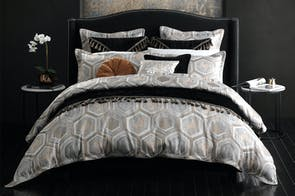 Apollo Silver Duvet Cover Set by Da Vinci