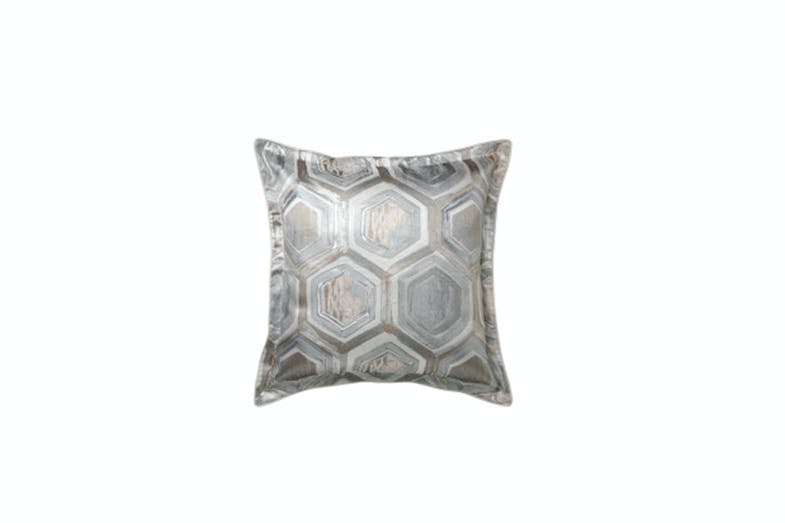 Apollo Silver European Pillowcase by Da Vinci