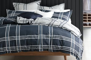 Charlie Navy Duvet Cover Set by Logan & Mason