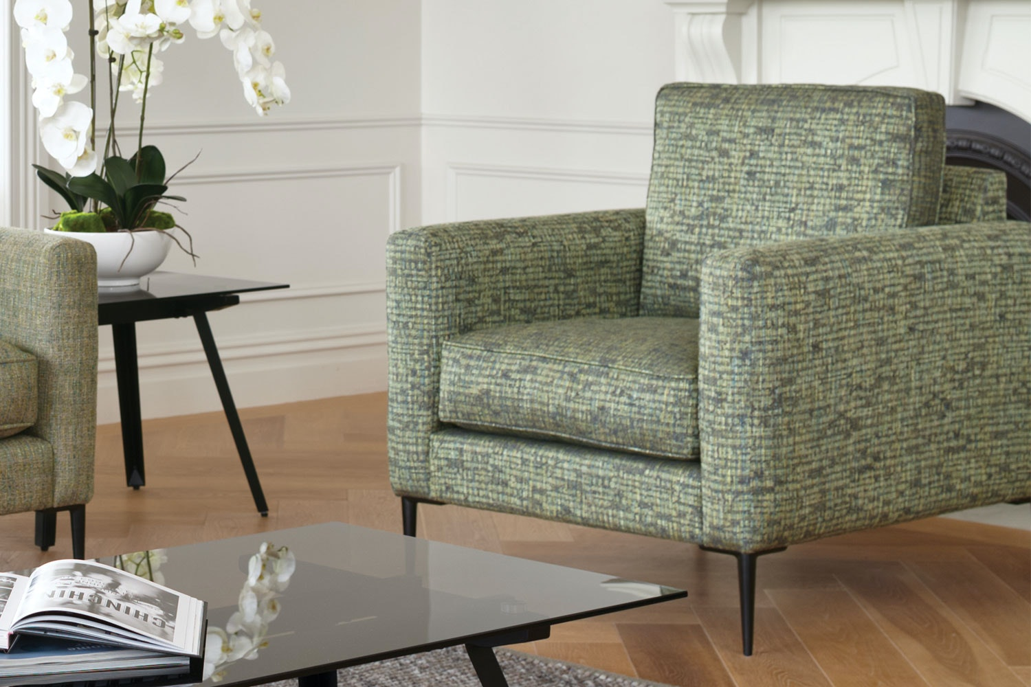 Oakland Fabric Chair by Evan John Philp