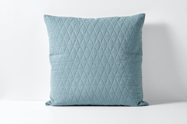Quilted Chambray Eucalypt European Pillowcase by Aura