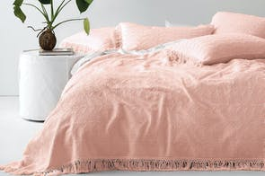 Shani Peach Bed Cover by Savona
