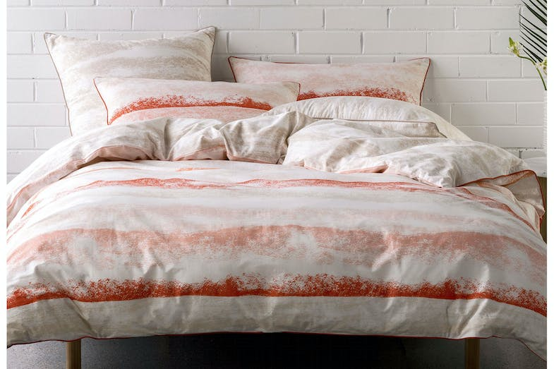 Terrain Coral Duvet Cover Set by Nu Edition