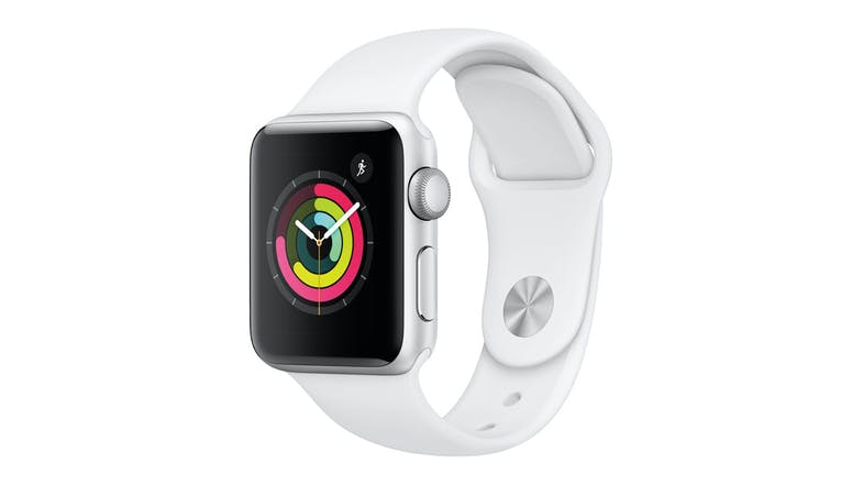 Apple Watch Series 3 (GPS) 38mm Silver + White Sport Band