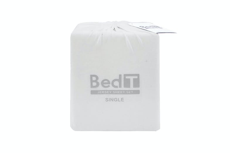BedT Jersey White Sheet Set by Bambury