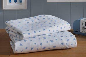 Blue Triangle 100% Cotton Sheet Set by Bambury