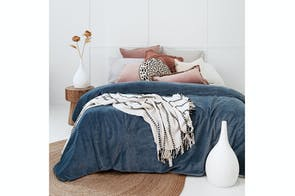 Emerson Slate Velvet Duvet Cover Set by Bambury