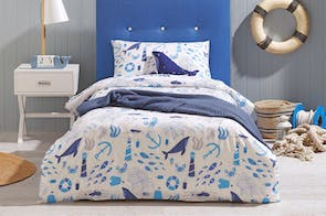Out To Sea Duvet Cover Set by Bambury