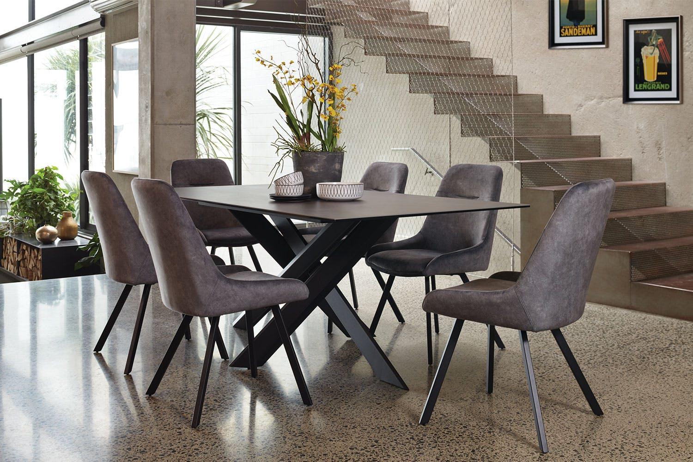 Alumina 7 Piece Dining Suite by Debonaire Furniture ...