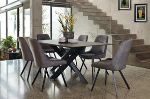 Alumina 7 Piece Dining Suite by Debonaire Furniture