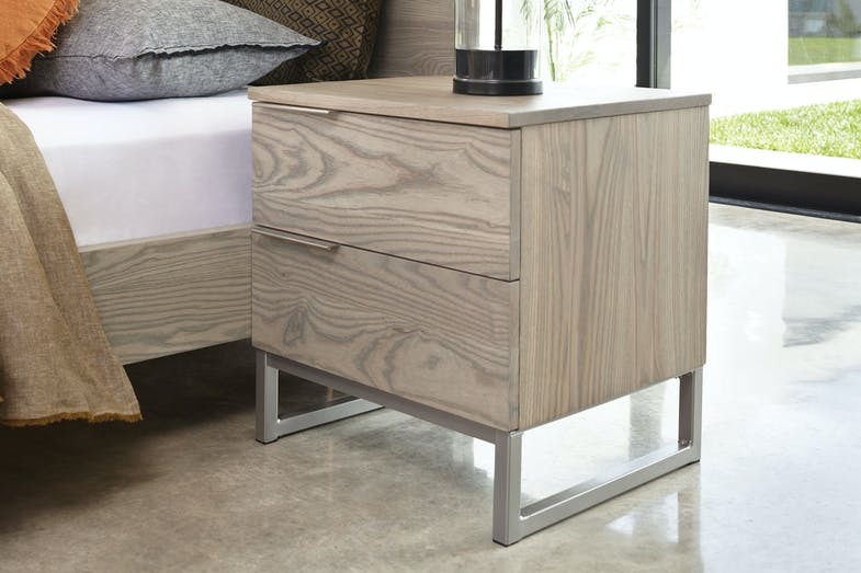 Ash Cove 2 Drawer Bedside Table by Sorensen Furniture