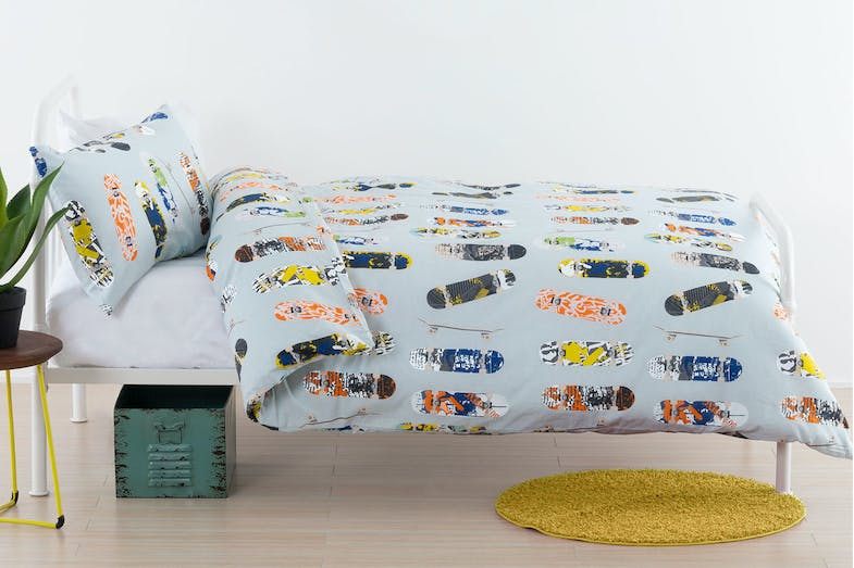 Boardertown Duvet Cover Set by Squiggles
