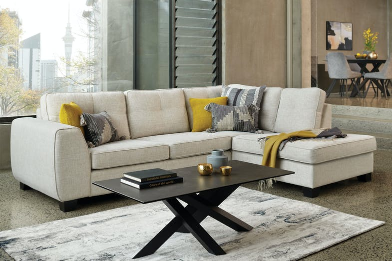 Falon 4 Seater Fabric Sofa with Chaise 01