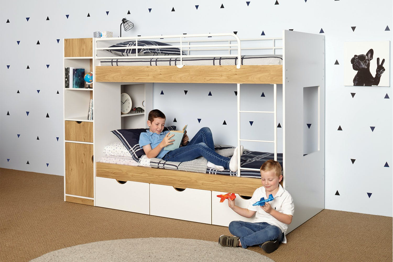 Olympus Single Bunk Bed Frame By John Young Furniture Harvey Norman New Zealand