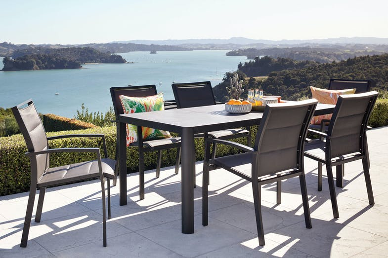 Sierra 7 Piece Outdoor Dining Setting