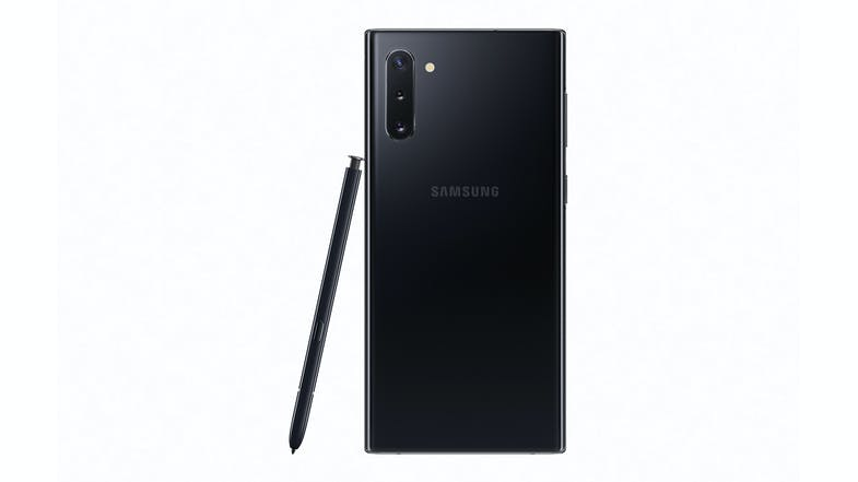 Samsung Galaxy Note10 Aura Black - Back with Pen