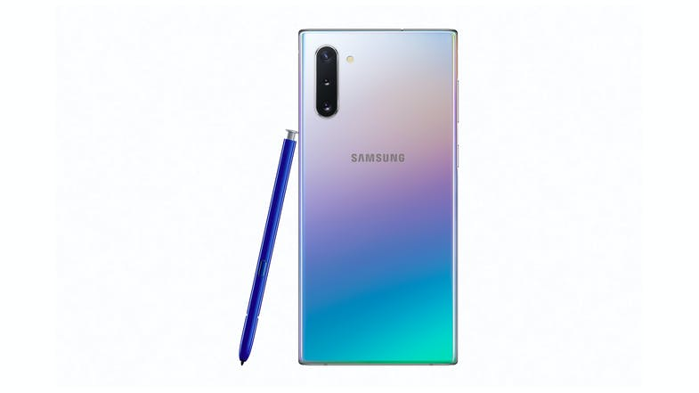 Samsung Galaxy Note10 Aura Glow - Back with Pen