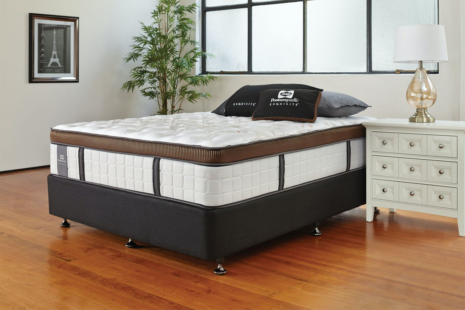 Image of Kingston Firm Californian King Bed by Sealy Posturepedic