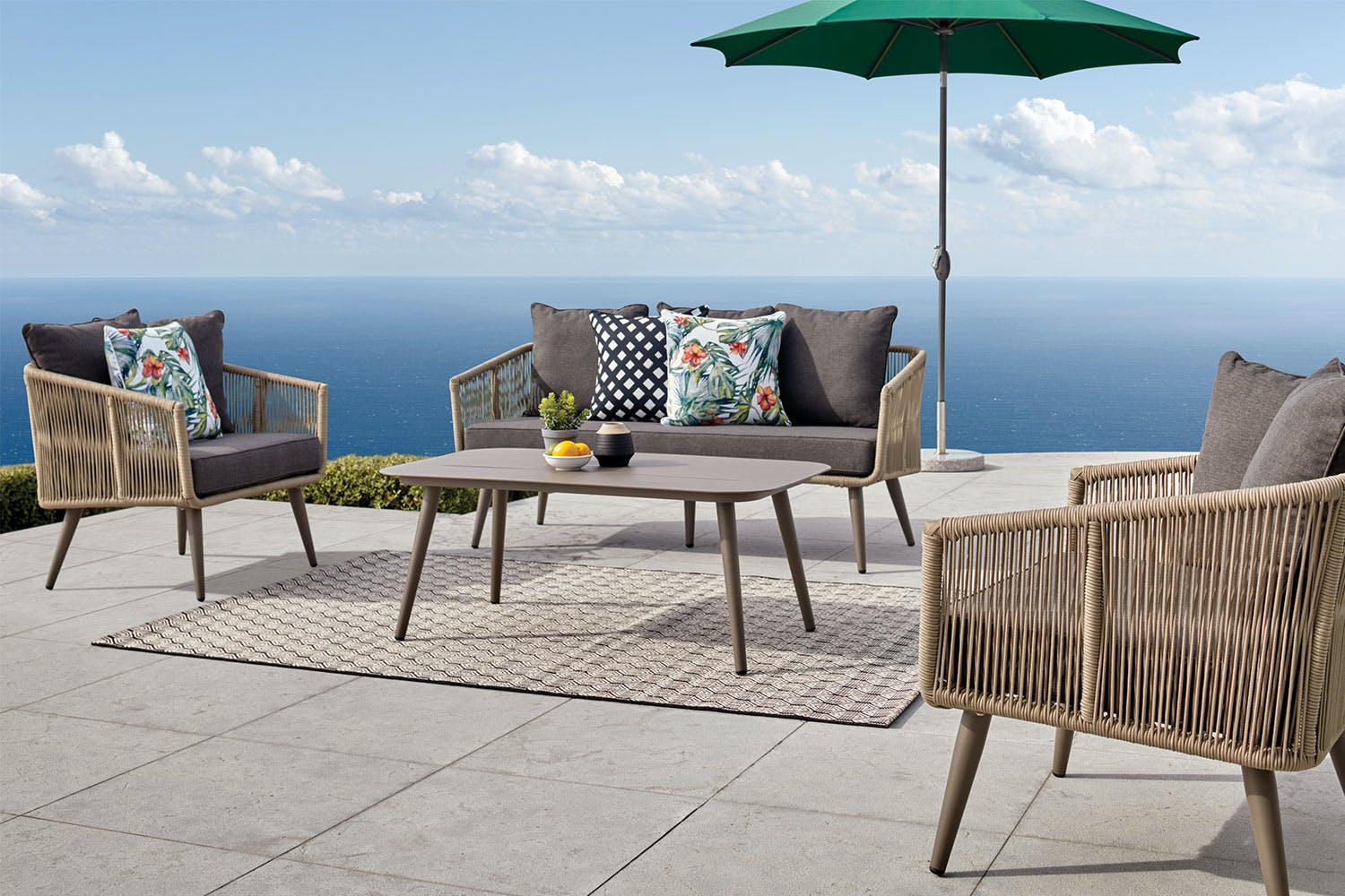 Herman 4 Piece Outdoor Lounge Setting
