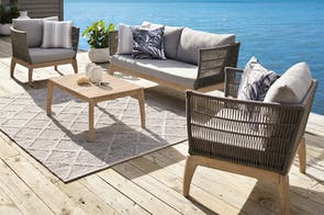 Kenzie 4 Piece Outdoor Lounge Setting