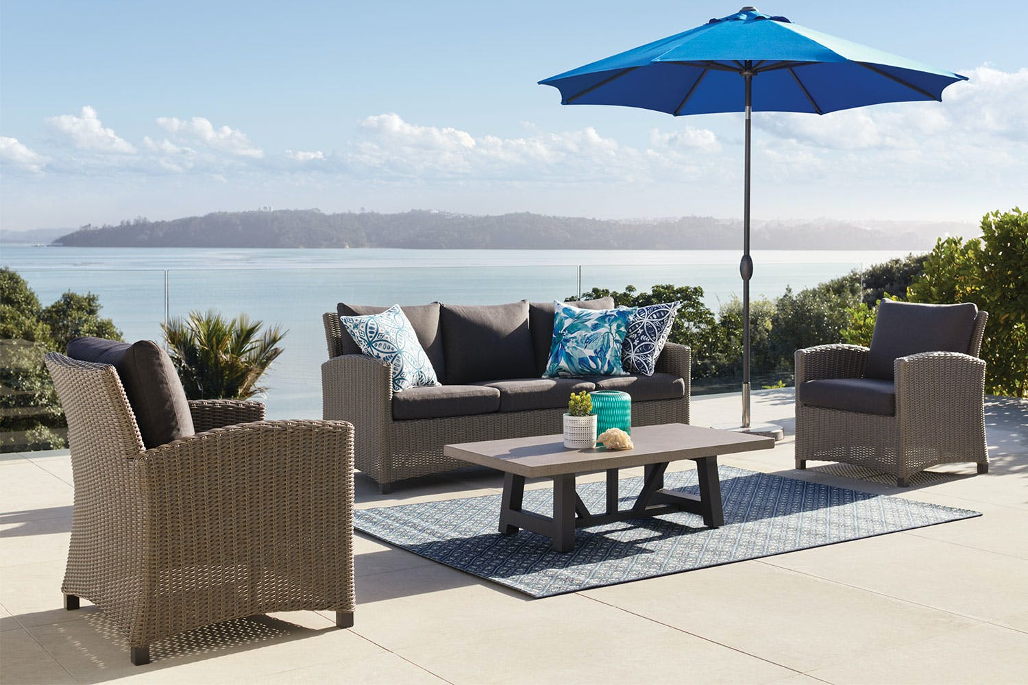 Suva 4 Piece Outdoor Lounge Setting